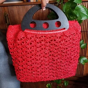 Handbags - Handbag Made Out Of Plastic Red